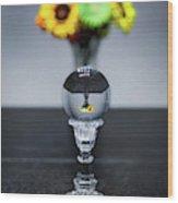 Flowers And Crystal Ball Wood Print