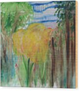 Flowers In A Forest Wood Print