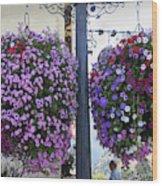 Flowers In Balance Wood Print