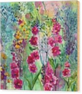 Flowery Fairy Tales Wood Print
