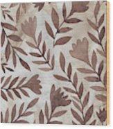 Flowing Flowers Wood Print