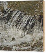 Flowing Water Over Rocks Wood Print