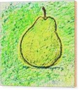 Fluorescent Pear Wood Print