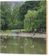 Flying Geese Wood Print