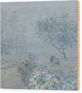 Foggy Morning, Voisins, 1874 Wood Print