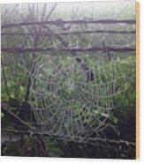 Foggy Web Wood Print