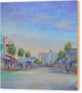 Folly Beach Center Street Wood Print