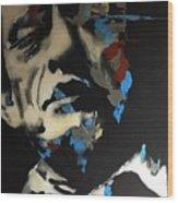 Folsom Blues _ Johnny Cash  Wood Print