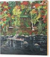 Fond Memories At Tupper Lake Wood Print