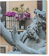 Fontana Dei Quattro Fiumi Wood Print