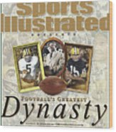 Footballs Greatest Dynasty The 1960s Packers Sports Illustrated Cover Wood Print