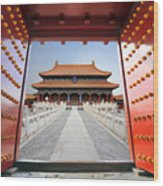 Forbidden City In Beijing , China Wood Print