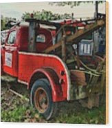 Ford F4 Tow The Truck Business End Wood Print