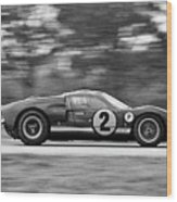 Ford Prototype Racecar On Track Wood Print