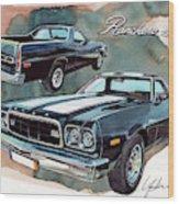 Ford Ranchero 500 Wood Print