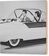 Fords Future Experimental Car Wood Print
