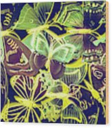 Forest Flutters Wood Print