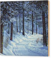 Forest Road Wood Print