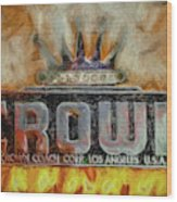 Forged In Fire - Crown - Oil Wood Print