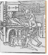 Forging A Magnet, 1600 Wood Print