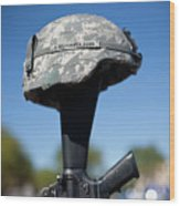 Fort Hood Holds Remembrance Ceremony Wood Print