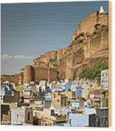 Fort Mehrangarh And Old Town In Jodhpur Wood Print
