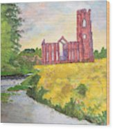 Fountains Abbey In Yorkshire Through Japanese Eyes Wood Print
