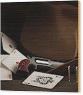 Four Aces Still Life Wood Print