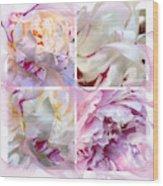 Four Peonies  Wood Print