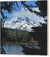 Framed - South Sister Wood Print