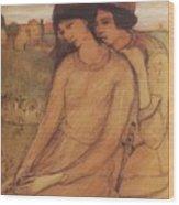 Francesca Da Rimini And Paolo Malatesta 1903 Wood Print