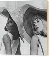 Francoise Dorleac And Catherine Deneuve Wood Print