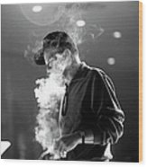 Frank Sinatra During Rehearsals Wood Print