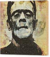 Frankenstein's Notebooks Wood Print