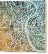 Frankfurt Germany City Map Wood Print