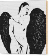Frankie The Dark Angel Wood Print