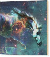 Free Of The Carousel II Wood Print