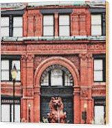 Freemason's Hall Historic Savannah Wood Print
