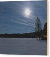 Freezing Cold Wood Print