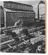 Freight Yard Wood Print