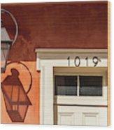 French Quarter Shadows Wood Print