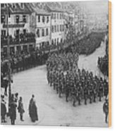 French Troops Entering Colmar Wood Print
