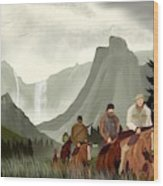 Frontier Trail Wood Print