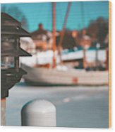 Frozen Seaport Wood Print