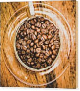 Full Of Beans Wood Print