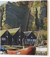 Funicular Railway East Cliff Hastings Wood Print