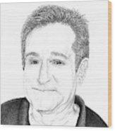 Funny Man Robin Williams Wood Print
