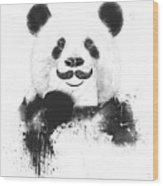 Funny Panda Wood Print