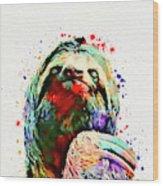 Funny Sloth Wood Print