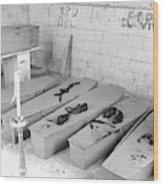 Funural Coffin Group Wood Print